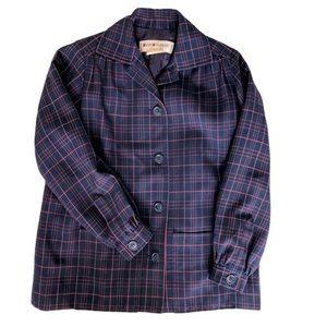 Vintage Saint Laurent Plaid Checked Blazer